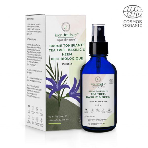 Brume Tonifiante Tea Tree, Basilic & Neem Emballage
