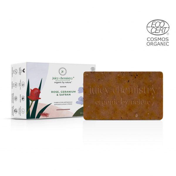 Savon Rose, Geranium & Safran Emballage