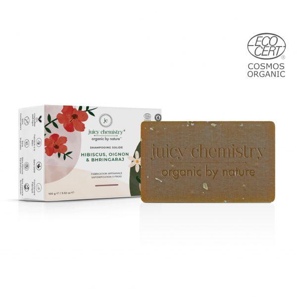 Shampooing Solide Hibiscus, Oignon & Bhringraraj Emballage