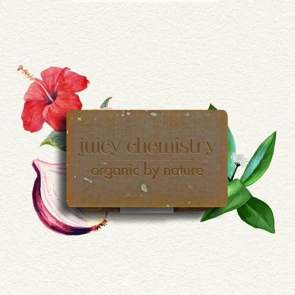 Soin Capillaire - Shampooing Solide Hibiscus, Oignon & Bhringraraj