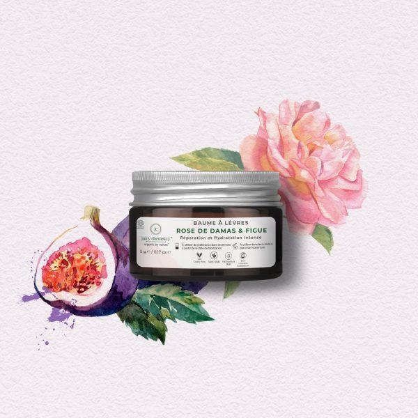 Soin Visage - Baume à Lèvres Rose de Damas & Figue