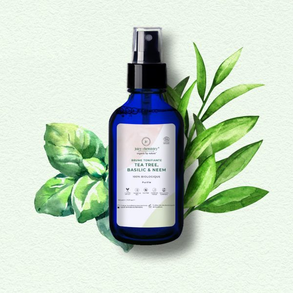Soin Visage - Brume Tonifiante Tea Tree, Basilic & Neem